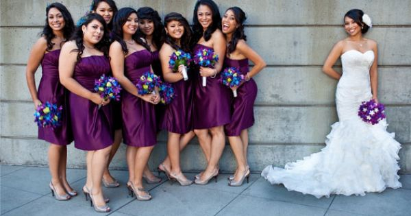 Love the dress and bridesmaids dress color