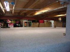 Crawl Space Finished Crawlspace Finishing Basement Crawl Space Storage