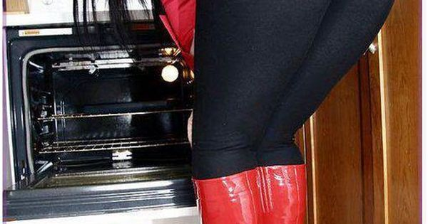 Red Boots and a Big Ass in Yoga Pants in the kitchen