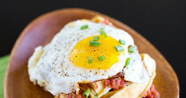 Waffles, Salsa and Eggs on Pinterest