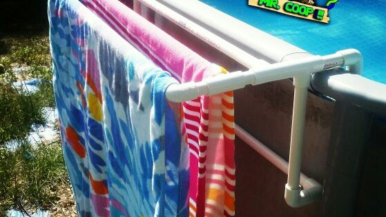 A New Towel Rack Table For Our Pool Pool Pvc Diy