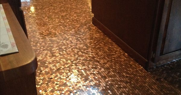 Penny Floor I Put In My Kitchen 50 000 Pennies Covered