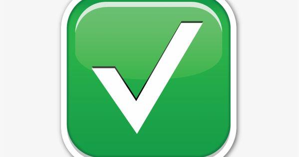 Green Check Mark Emoji Png Emoji Emoji Clipart Emoji Images