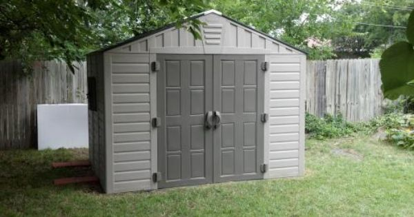 Us Leisure 10 Ft X 8 Ft Keter Stronghold Resin Storage Shed 157479 The Home Depot Storage Shed Resin Storage Outdoor Storage Solutions