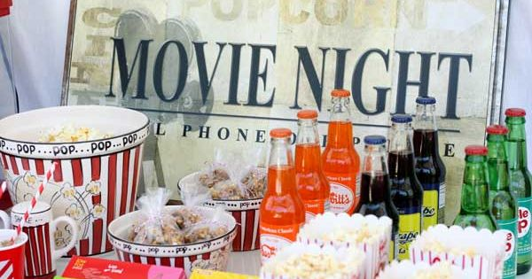 Movie theme party ideas.
