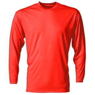 A4 Cooling Performance Youth Long Sleeve Crew Casual Shirts For