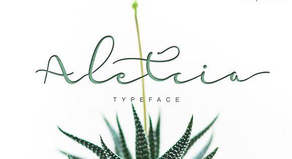 Hello, Aletcia!! modern script style