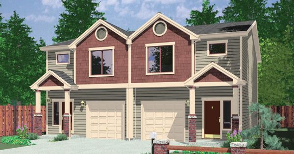 What is a row house house plans duplex plans row home for Building a fourplex