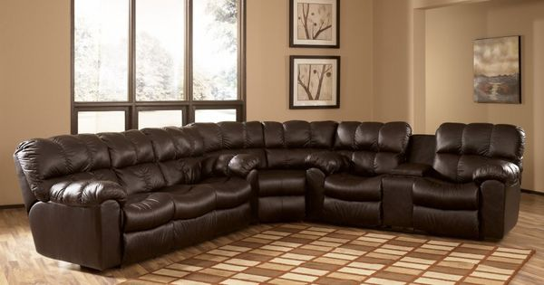 Max Chocolate Reclining Sectional Collection By Ashley