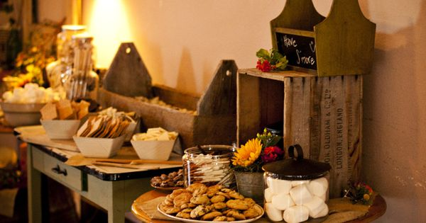 Smores Table | My Momma's Weddings | Pinterest | Skewers, Kabobs and ...