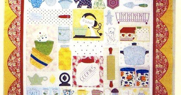 Grandma 39 s kitchen applique quilt pattern by pipersgirls on for Kitchen quilting ideas