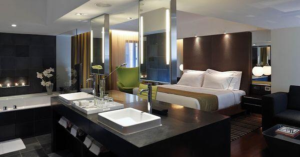 Dormitorios elegantes con ba o integrado habitaciones de - Dormitorios de lujo ...