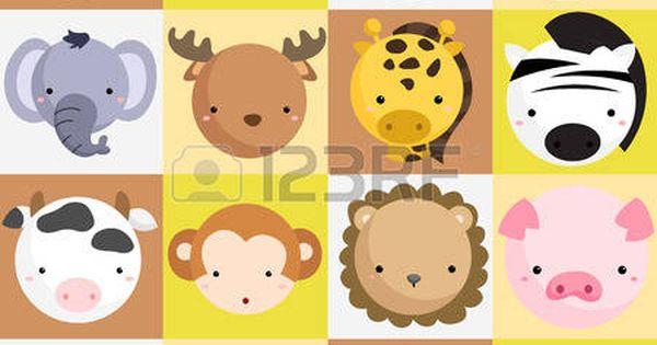 Nice Simple Stylized Look Animal Vector Farm Animals Games Background Vector Art