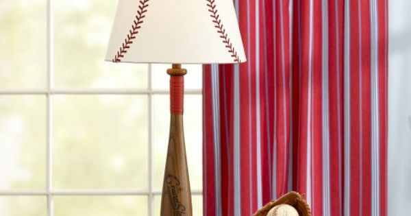 Baseball and bat lamp shade for boy room... Nephew