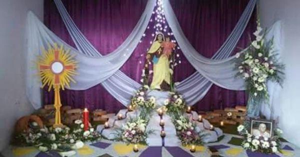 Altar de difuntos altares para difuntos pinterest altars church stage design and church stage - Como decorar un salon en navidad ...