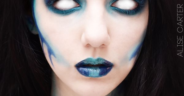 Creepy aquatic make-up- perfect for Ursula-ish look. Sea witch. | See more about Sea Witch, Witch and Sea Monsters.