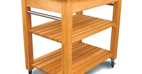 Catskill Craftsmen, Inc. French Country Kitchen Cart with Butcher Block Top ...