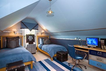 Boys Attic Bedrooms Design Ideas Pictures Remodel And Decor
