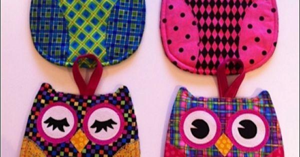 owl potholders
