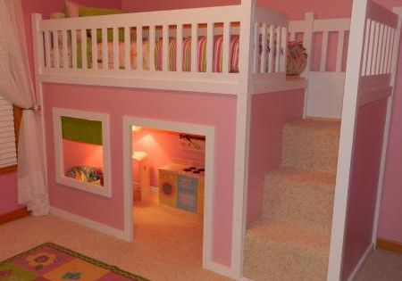 Ana White | Build a Playhouse Loft Bed | Free and Easy