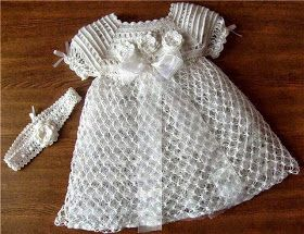 Todo Crochet Vestido De Niña Tejido A Ganchillo Como Hacer Vestidos Vestidos Para Bebés