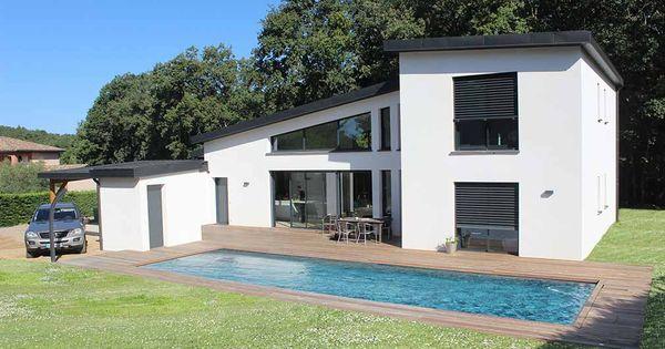 Atelier d 39 architecture scenario maison toit monopente for Constructeur maison bourgoin