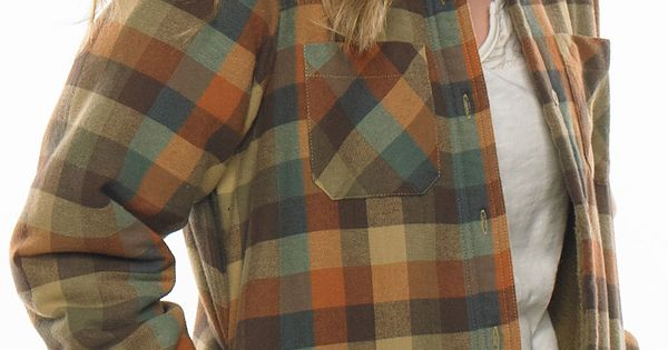 Women 39 S Open Country Plaid Shirt Jacket Plaid Shirts
