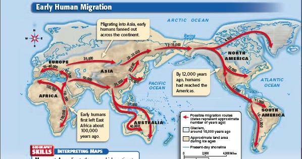 early human migration Boulders offer new clues about early human migration to the americas a new theory suggests the first americans took a coastal route along alaska's pacific border to enter the continent.