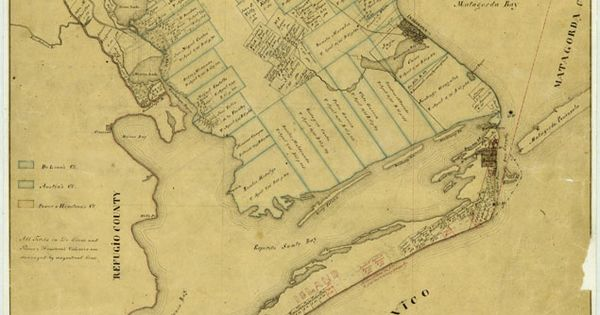 Indianola Texas Artifacts 1863 Map Of Calhoun County