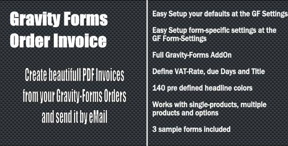 Gravity Forms Order Invoice By Naranili Welcome To The Gravity Forms C Order Invoi Web Development Design Wordpress Plugins Design Wordpress Plugins Website