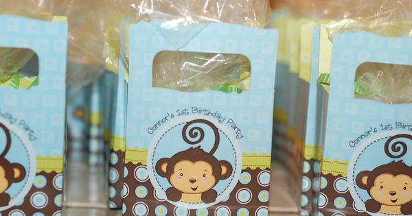Monkey boy favor boxes monkey boy baby shower birthday party ideas pinterest favor - Monkey baby shower favors ideas ...