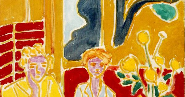 Henri matisse fillettes jaune rouge matisse for Interieur rouge matisse