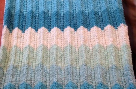 Caron Cakes Baby Blanket Finished Knit Amp Crochet