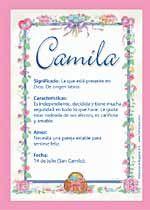 Camila Significado De Camila Origen De Camila Nombres Para Bebés Puedes Enviar Por Email Compartir O Significados De Los Nombres Nombres De Niñas Nombres