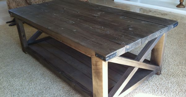 Rustic coffee tables rustic x coffee table do it yourself home projects from ana white diy Do it yourself coffee table