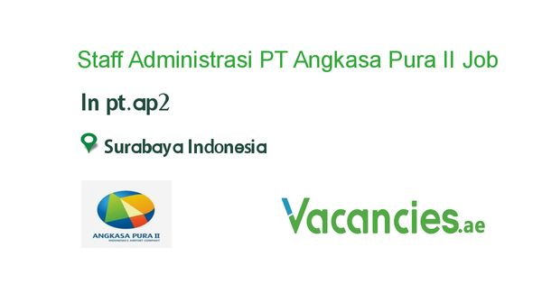 Staff Administrasi Pt Angkasa Pura Ii Persero Job Pie Chart