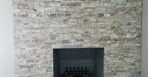 split face traverting ledgestone | customer installation ...