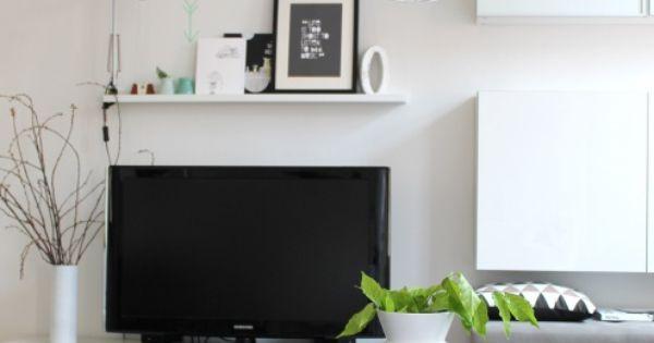 black white tags schwarz ikea wohnzimmer wei bilderleiste tv wand stockholm. Black Bedroom Furniture Sets. Home Design Ideas