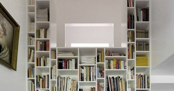 Boxes of book shelves catered to all sizes of books - idealistic