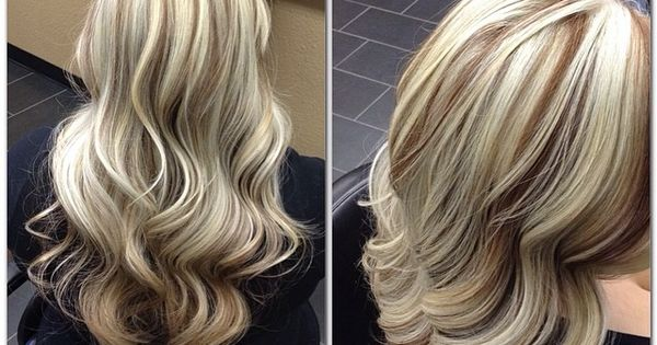Blonde highlights w/ a light brown base!