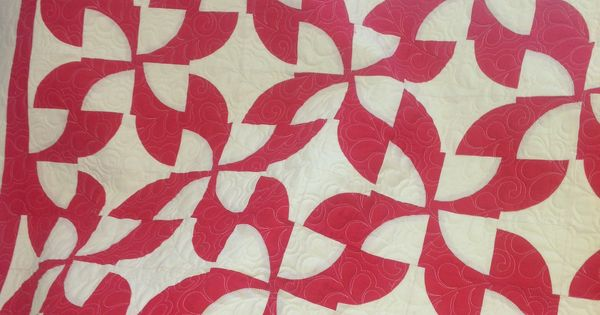 Drunkards Path Using Missouri Quilt Video Quilted By