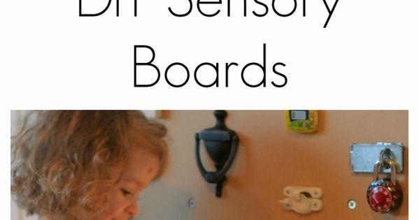 DIY sensory walls, great for the kiddos! - J