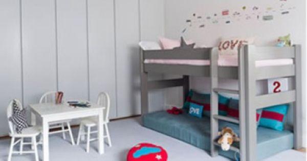 High bed 127cm kinderkamer pinterest bedden kind en hoge bedden - Kind mezzanine slaapkamer ...