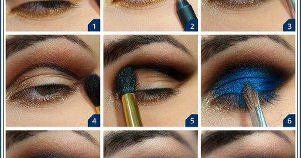 Such a vibrant cobalt blue eye shadow.