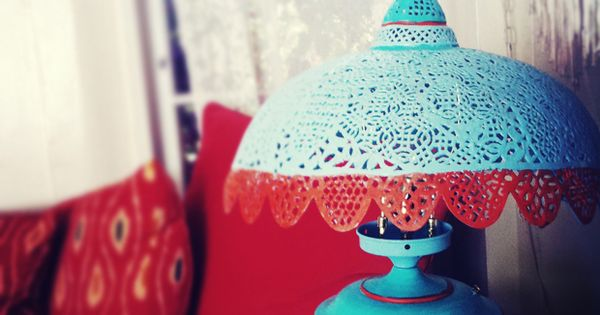 Moroccan pierced metal lamp. Love Bee xxx
