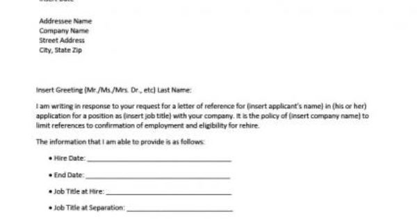 Business Letter of Reference Template – Reference Templates
