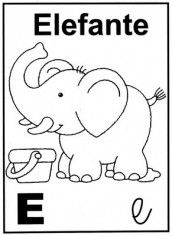 Letra E Alfabeto Para Colorir Atividade Alfabeto Educacao