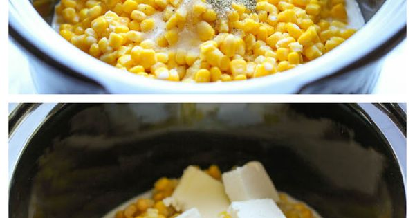 Slow Cooker Creamed Corn - So rich and creamy, and unbelievably easy