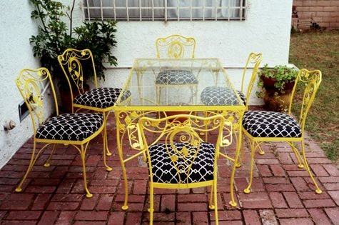 Painting Wrought Iron Outdoor Furniture