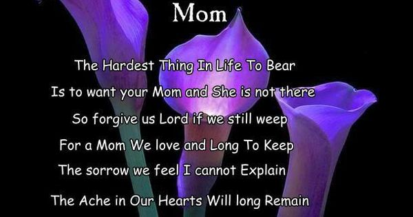 Happy mother's day in heaven mom | Missing My Mother | Pinterest | Heavens